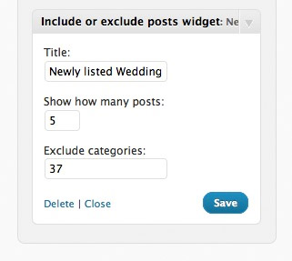 Include or Exclude Posts Widget