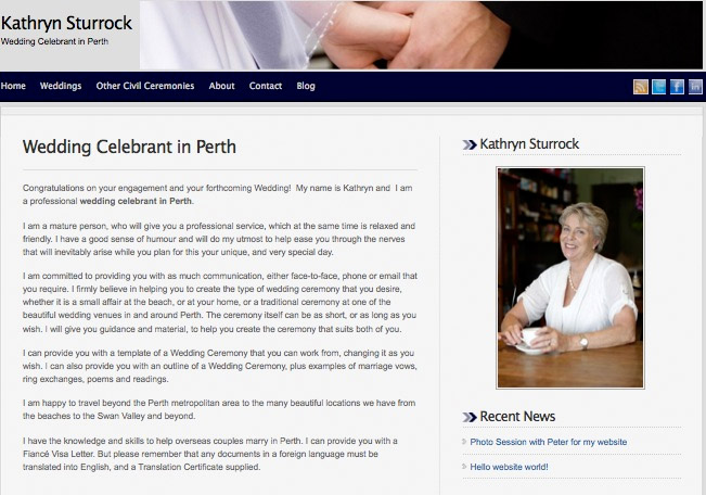 kathryn sturrock, wedding celebrant in Perth